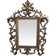 REDUCED Brassy Rococo Picture Frame for 6 inch by 4 1/4 inch Photo.