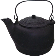 Civil War Period Cast Iron Tea Pot Patent Dated July 23,1863 on the Lid !