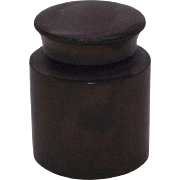 "Civil War Period ""Traveler's Ink Well"" made of Gutta Perch, aka India Rubber Circa ."