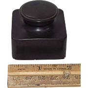 "Deluxe Double Screw Caps on ""Traveler's Ink Well"" made of India Rubber Circa 1920 .."