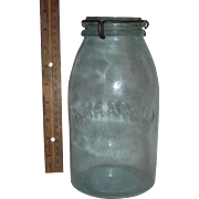"Half Gallon ""Cohansey"" Fruit Jar complete with ""Patented July 16, 1872 * Januar"