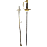 Civil War Veteran's G.A.R. Sword with Portrait of Lincoln and the Original Nickel Plated Scabb