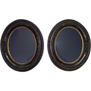Matching Civil War Period Oval Picture Frames Circa 1860 !!!