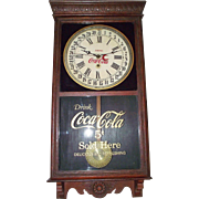 "Authentic ""Coca-Cola"" Store Advertising Regulator Clock with Calendar Date Circa 192"