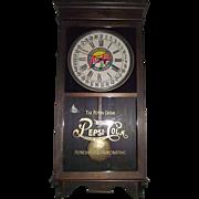 """REDUCED Authentic """"Pepsi Cola"""" Advertising Store Time Regulator & Calendar Date Cloc"""