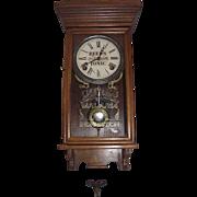 """Reeds Tonic"" Advertising Clock made by Wm. L. Gilbert Clock Co.  Circa 1920 !!!"