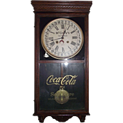 """Historic """"McCrory's & Coca-Cola"""" Advertising Clock with Hourly Strike & Calendar Dat"""