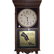 "Historic ""Hailman St. General Store & Cooper Leather Stockings"" Advertising Clock Ci"