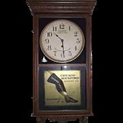 "Historic ""Hailman St. General Store & Cooper Leather Stockings"" Advertising Clock Ci"