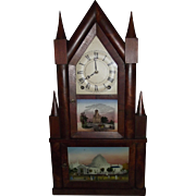 "REDUCED ""Double Decker Steeple Clock"" made by ""Terry & Edwards"" with Origi"