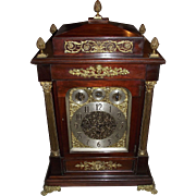 Monumental English Musical Movement Bracket Clock which plays 8 Bells, or 5 Chime Coils ...