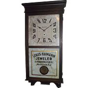 "Authentic ""Louis Heimann Jeweler * Morristown,NJ."" Advertising Store Regulator Clock"