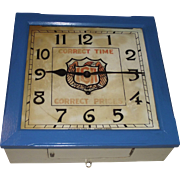 "Square ""IGA"" Store ""Balcony"" Model Key Wind Wall Clock used as Advertiser"