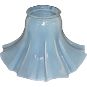 Opalescent White Fluted Glass Art Nouveau Shade for Electric Lamp Circa 1895 !!!