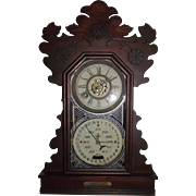 Rare Feichtinger Calendar Clock with 8 Day Time & Strike with Deluxe Alarm in Original Walnut