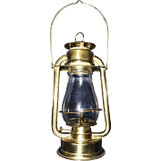 "Ham's Brass ""GEM No. 00"" Model Hand Lantern Circa 1888 to 1914 !!!"
