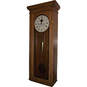 """Pennsylvania Railroad * E. Howard Clock Co. Solid Oak Regulator Model No. 89 !!!"