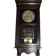 "Rare Half Size ""J. & P. Coats Spool Cotton"" Advertising Store Clock with Time & Stri"
