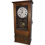 """Western Maryland Railroad"" Workers Time-Clock with 15 Day Brass Movement"" !!!"