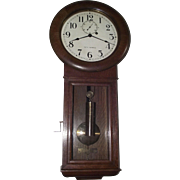 Seth Thomas #2 Regulator Wall Clock in Quality Golden Oak Case Circa 1929 !