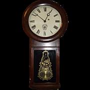 "Authentic ""Long Island Railroad"" Clock in a Circa 1878 Early Seth Thomas # 2 Model C"