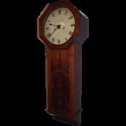 "Signed ""W. Schofield"" English Act Of Parliament Clock, aka Tavern Clock in a Mahogan"