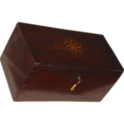 REDUCED Solid Mahogany Dovetailed DocumentBox with Inlaid Lid &  Key !!!