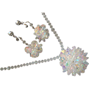 """Stunning """"Crystal Ball"""" Necklace & Earrings"""