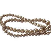 REDUCED 12k Gold Filled Graduating Bead Necklace