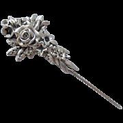 SALE Gorham Sterling Flowered Stick Pin