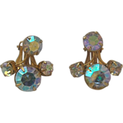 Aurora Borealis Clip Earrings
