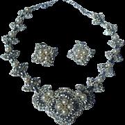 SALE Vintage Pearls & Rhinestones