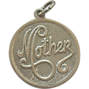 """Sterling Silver """"Mother"""" Charm"""