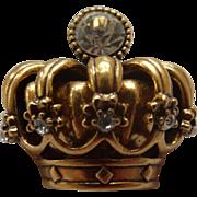 Trifari TM Crown Brooch