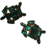 Austrian Crystal Turtle Pin Pair