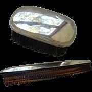 SOLD Men's Gorham Sterling Silver Brush & Comb Set