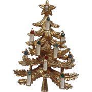 Art Christmas Tree Brooch