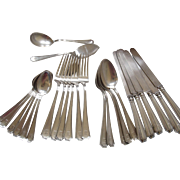 SALE PENDING 26 pcs Sterling Silver Flatware Set Durgin