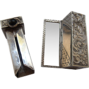 SALE Italian Silver 800 Lipstick Case