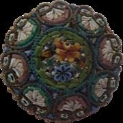 Micro Mosaic Blues & Lavenders Brooch