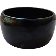 X-Wide Black Bakelite Bangle Bracelet