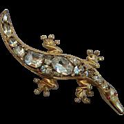 Coro Craft Sterling Alligator Brooch