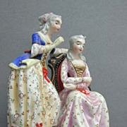 Exquisite c. 1850 Figural Pirkenhammer Porcelain Group by Christian Fischer