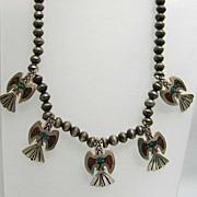Fabulous Southwestern Navajo Eagle Necklace by Bobbie Piaso