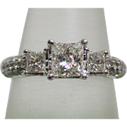 Classic Vintage Princess Diamond Engagement Ring