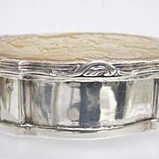 c. 1750 Louis XV Silver and Carved Scenic M-O-P Snuff Box