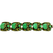 Original Max Neiger 1920s Art Deco Chinoise Bracelet with Dragons