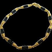 Vintage 22K Gold and Onyx Bracelet