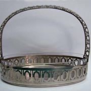 Fabulous WMF Jugendstil Silver Plate and Glass Basket
