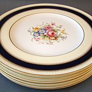 Set Of Six Royal Worcester Dinner Plates Princess Royal 1935